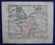 Original antique map ROMAN EMPIRE, BRITANNIA, GAUL, Brion de la Tour, 1774