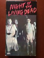 """""""NIGHT OF THE LIVING DEAD""""GEORGE ROMERO'S.HORROR.VHS.115 MINUTES.1968.B/W."""