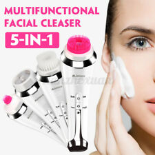 5 in 1 Electric Face Facial Cleansing Brush Spa Skin Care Exfoliator Deep Clean