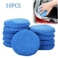 10 x Car Microfiber Polishing Pads Wax Applicator Foam Sponge Cleaning Buffer