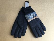 NWT Men's Isotoner 3M Thinsulate Platinum Brushed Microfiber Gloves Black
