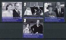 BIOT Br Indian Ocean Terr 2017 MNH Queen Elizabeth II Platinum Wedding 4v Stamps