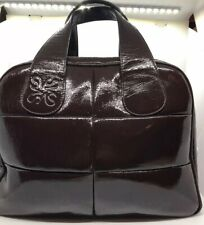 Simply Vera handbag by Vera Wang Brown Faux Patent Leather Purse