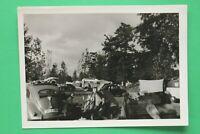 Foto Auto Oldtimer VW Käfer 1950-1970er Kennzeichen Straubing Zelte Campingplatz