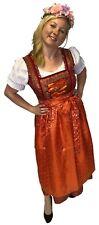 Trachtenkleid Sari Dirndl - Lang Set Oktoberfest, 3-teilig: Kleid Bluse Schürze