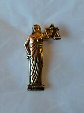 Blind Justice Gold-Colored Scales Sword Lapel Hat Pin