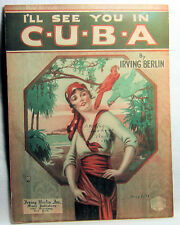 I'LL SEE YOU IN CUBA Vintage Sheet Music 1920