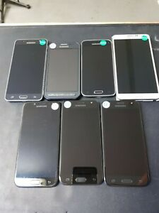 job lot 7x Mixed Samsung Mobile Phones - See description for details - Working