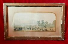 ORIGINAL FRAMED GEORGE BAXTER  PRINT CRYSTAL PALACE GREAT EXHIBITION 1851