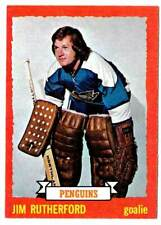 1973-74 Topps JIM RUTHERFORD (ex-) Pittsburgh Penguins