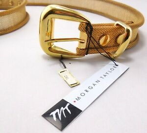 """Gold Tone Metal Mesh Belt Morgan Taylor Size 2XL or 42"""" New With Tags"""