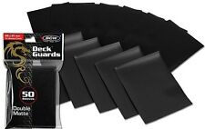 800 Black Matte Deck Guard Card Sleeve Protectors - Tournament Quality MTG