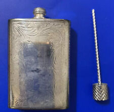 Small Silver Plate Perfume Container (no Visible Markings) - (possibly Sterling