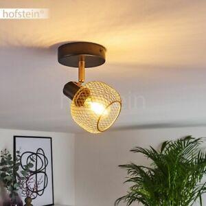Decken Lampen Schwarz/Gold drehbar Wohn Schlaf Zimmer Beleuchtung Flur Strahler