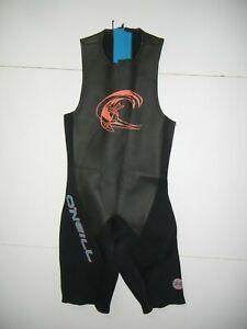 O'NEILL Black/Blue Neoprene 2 MM SLEEVELESS SHORTY WETSUIT Surf Beach Sz Men's M
