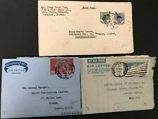 Postal History Burma 2 Airletters and 1 Cover from the 1950s