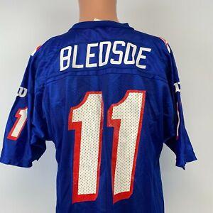 Wilson Drew Bledsoe New England Patriots Replica Jersey Vtg 90s NFL Football L