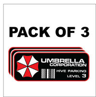 Umbrella Corporation Hive Parking Level 3 Resident Evil Zombie Decal Sticker