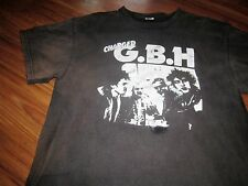 G.B.H. BEAT UP OLD DISTRESSED PUNK ROCK TEE SHIRT DISCHARGE LARGE