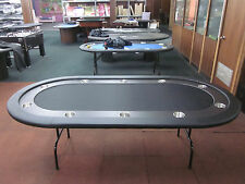 "96""  8FOOT PRO POKER TABLE WITH SPEED FELT [BLACK] + STAINLESS STEEL JUMBO CUP"