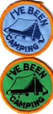Boy Scout/Girl Guide Badges  I`VE BEEN CAMPING x 2