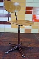 60er Vintage Drehstuhl Schreibtisch Stuhl Architektenstuhl Industriedesign 1/6