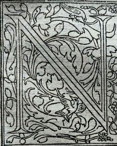 1498 BOUND FRAGMENT of 5 LEAVES - COMMENTARIA IN BIBLIAM, ORIGINAL Incunabula