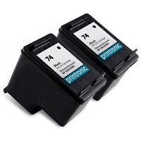 2 Pack HP 74 Ink Cartridge - DeskJet D4260 D4263 D4268 D4280 D4360 D4363 D4368