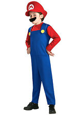 Brand new Super Mario Children Boy Men 80s Fancy Dress Party Costume  PC009