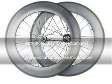 88mm Tubular fixed gear (track) carbon wheels 700C flip flop hub 23mm width