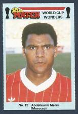 MATCH MAGAZINE-WORLD CUP WONDERS 1986- #12-MOROCCO-ABDELKRIM MERRY