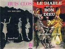 JEAN-PAUL SARTRE Huit clos + Le Diable et le Bon Dieu+ PARIS POSTER GUIDE