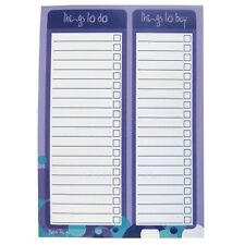 A5 - Things To Do & Buy Organiser - Spots Design - 100 Sheets Per Pad- 8.3 x 5.8
