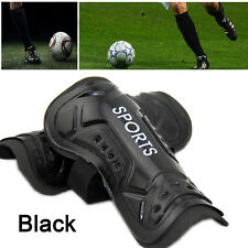 Football Soccer Sports Shin Guards Pads Shinguard Protector Ankle Support Black