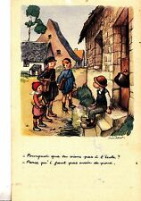 CF81. Vintage French Postcard.National League against slums. Schools and lice