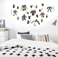 Lego Figuren 21 Wandtattoo Wandaufkleber Kinder Decoration wall stickers 8-12cm