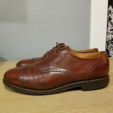 ALLEN EDMONDS Men 9D Benton Leather Cap-Toe Lace Up Oxford Derby Dress Shoe 3458