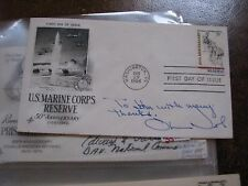 Col. Oliver North Autograph Signature Signed Marine Corps Cover L16