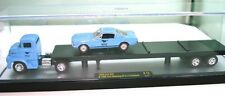 1:64 1956 FORD CAR TRANSPORTER WITH '66 MUSTANG FASTBACK - NEW IN DISPLAY CASE