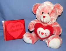 "Dan Dee Collector's Choice VALENTINE PLUSH BEAR 9""  Plus Valentine Music CD"