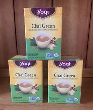 3 X YOGI CHAI GREEN TEA 48 BAGS BEST BY 3/2022