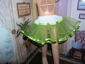 "Green Nylon Net Slip Petticoat 25"" Doll clothes fits Mattel Charmin Cathy"