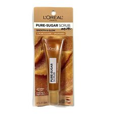 L'Oreal Pure Sugar Scrub Mini Smooth And Glow 0.67oz For Face And Lips New