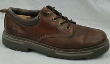Skechers USA Mens 9.5 Med Cool Cat Padded Collar Oxford Shoes Brown Leather Boot