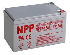 NPP 12V 12 Amp NP12 12Ah UPS Battery Replaces Gruber Power GPS12-12, GPS F2