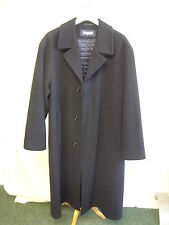 "Mens Coat Bugatti black wool blend, size 38R, chest 46"", length 48"", German 2031"