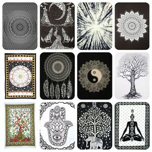 Black White Wall Hangings Tapestry Mandala Boho Hippie Wall Art Decor