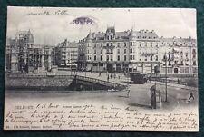 CPA. BELFORT. Avenue Carnot. 1904. Au Bon Marché. Immeuble en chantier.