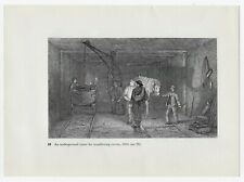 """1966 Book Print UNDERGROUND CRANE FOR TRANSFERRING COVES, 1844. Size: 10"""" x 7"""""""