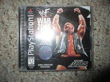 WWF War Zone ORIGINAL (Sony PlayStation 1, 1998) WWE ps1 Complete